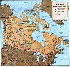 Physical Map Of Canada by Canada Physical Map 1997 World Atlas Size 1093x1047