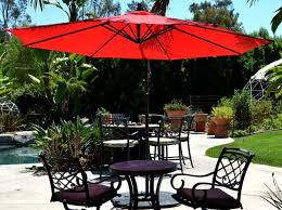 Patio Umbrellas Offset Offset Hanging Patio Umbrella 10 Adjustable Backyard