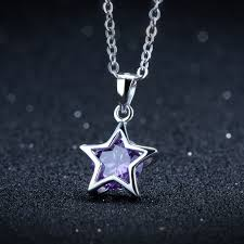 necklace pendant star images Online shop fashion 925 sterling silver necklace pendant women jpg