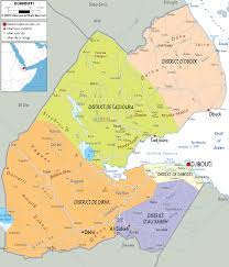 Political Maps Detailed Clear Large Map Of Djibouti Ezilon Maps