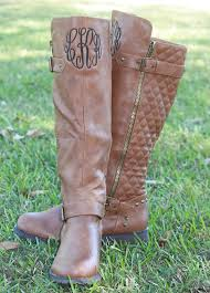 monogrammed boots s personalized quilted boots