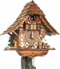 cuckoo clock 1 day movement chalet style 27cm by anton schneider