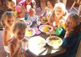 Kids Eating Table Menu Goals