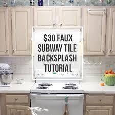 how to put up backsplash in kitchen creative ideas diy backsplash clever 30 faux subway tile diy