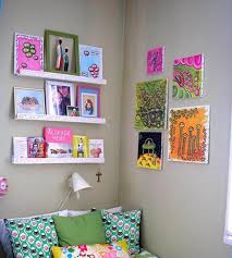 decorating chic wall art decor and white display floring shelves