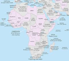 africa map all countries map reveals every country s tourism slogan do you sa s