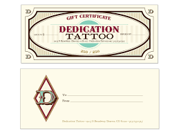 tattoo gift certificate template free download clip art free