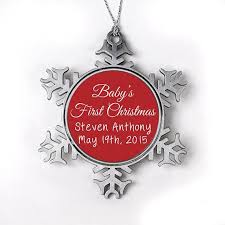 baby u0027s 1st christmas ornament personalized baby u0027s first christmas or