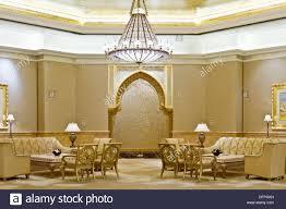interior decor of the emirates palace hotel in abu dhabi uae