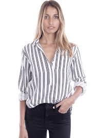 popover blouse pippa white pop linen striped shirt camixa usa