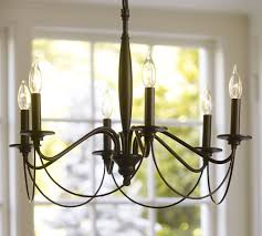 Chandelier With Black Shades Graham Chandelier Pottery Barn