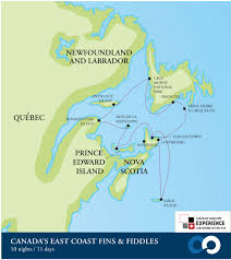 French Canada Map by Canada U0027s East Coast Fins And Fiddles One Ocean Expeditions