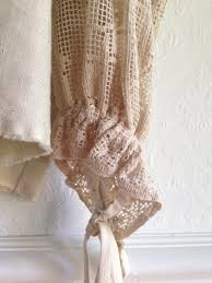 Old Fashioned Lace Curtains by Womens Top Poet Blouse Repurposed Vintage Lace Linen Clothing