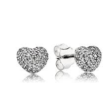 cheap stud earrings pandora charms online shop pandora in my heart with clear cz
