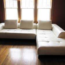 Brown Leather L Shaped Sofa Stunning L Shaped Sofa Come With White Leather Modern Tufted L