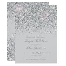 silver wedding invitations silver wedding invitations announcements zazzle