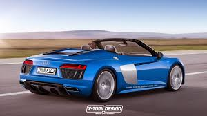 audi convertible 2016 2016 audi r8 convertible blue rendered pictures audi pinterest