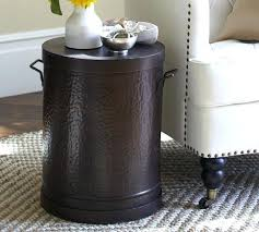 metal drum stool cool metal drum accent table metal drum side