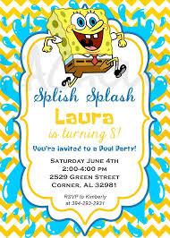 spongebob party invitations u2013 frenchkitten net