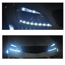 mercedes c300 aftermarket accessories 07 11 m w204 c class led drl projector headlights black