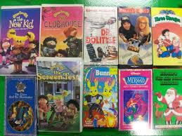 huge vhs tape lot of 14 videos including cabbage kids little