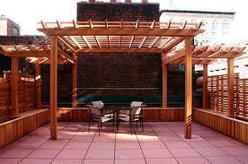 Trellis Structures Pergolas Large Rooftop Pergola And Planters No Rp5 By Trellis Structures