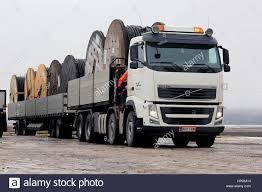 truck volvo 2017 salo finland february 17 2017 white volvo fh truck with reka