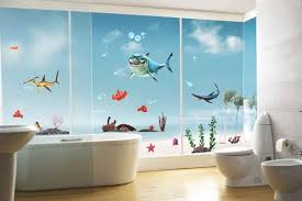 bathroom wall design ideas decorating walls with paint diy idea paint roller printed walls