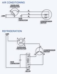 hvac in run capacitor wiring diagram air conditioner gooddy org