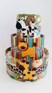 jungle animal diaper cake safari diaper cake baby shower