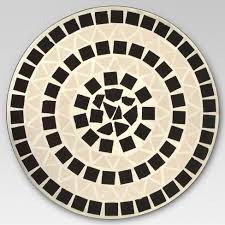 Mosaic Accent Table Mosaic Patio Accent Table White Threshold Target