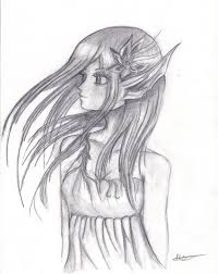 drawn elf elf woman pencil and in color drawn elf elf woman