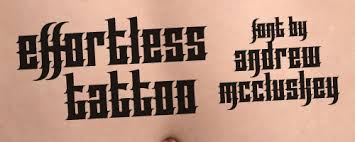 effortless tattoo font dafont com