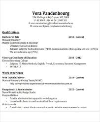 Monash Resume Sample by 26 Free Work Resume Templates Free Word Pdf Documents Download