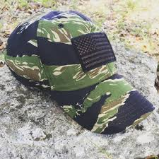 American Flag Camo Hat Jungle Tiger Stripe Hat Rogue American
