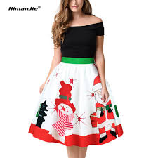 himanjie new 2017 autumn casual skirts female pleated snowman