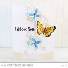 beautiful butterflies card kit bold blooms st set stitched