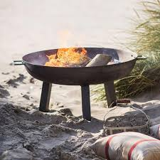 Firepit Bowl by Outdoor Fire Pit Brazier Bowl 80cm Large Rustic Fire Pit The