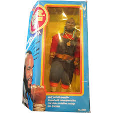 mr t earrings mr t 1983 b a baracus doll from tv series by galoob complete