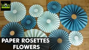 for decoration how to make paper rosettes flowers paper pinwheels backdrop for