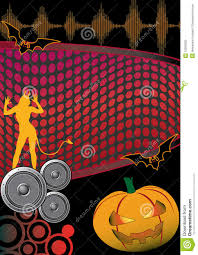 halloween music disco party flyer poster stock photo image 10599250