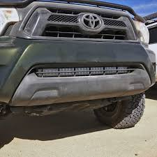 tacoma grill light bar 05 15 toyota tacoma 30 stealth led bar mounts desolate motorsports
