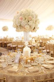 White Roses Centerpieces by Reception Décor Photos Elegant Crystal Centerpiece Inside Weddings