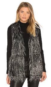 bb dakota bb dakota by bb dakota agneta faux fur vest in black revolve
