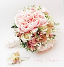 of the valley bouquet bridal bouquet of the valley peonies roses hydrangea pink and