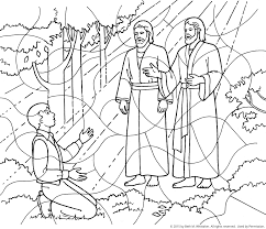 first vision coloring page