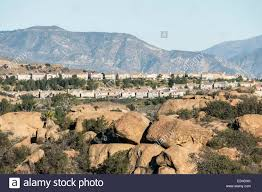 suburban los angeles hillside homes above the san fernando valley