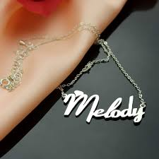 Personalized Gold Necklace Name Personalized Silver Fiolex Girls Fonts Heart Name Necklace