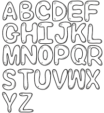 font bubble letter coloring pages coloring pages