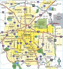 denver map travel map travelquaz